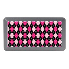 Argyle Pattern Pink Black Memory Card Reader (Mini)