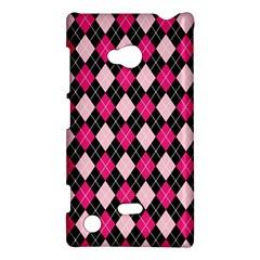 Argyle Pattern Pink Black Nokia Lumia 720