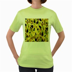 Army Camouflage Pattern Women s Green T-Shirt