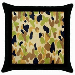 Army Camouflage Pattern Throw Pillow Case (Black)