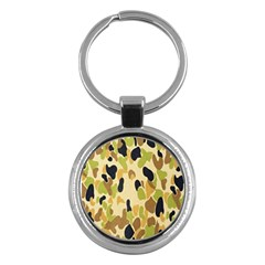 Army Camouflage Pattern Key Chains (round)