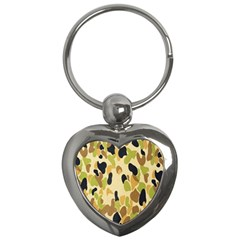 Army Camouflage Pattern Key Chains (Heart)