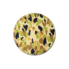 Army Camouflage Pattern Magnet 3  (Round)