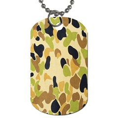 Army Camouflage Pattern Dog Tag (one Side)
