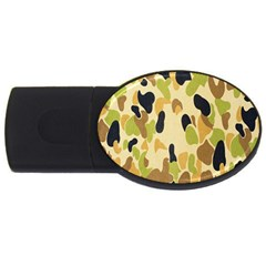Army Camouflage Pattern Usb Flash Drive Oval (4 Gb)