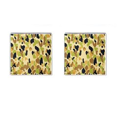 Army Camouflage Pattern Cufflinks (Square)