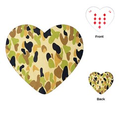 Army Camouflage Pattern Playing Cards (Heart)