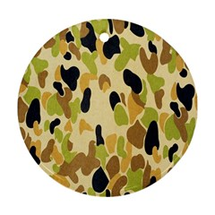 Army Camouflage Pattern Round Ornament (Two Sides)