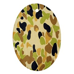 Army Camouflage Pattern Oval Ornament (Two Sides)
