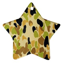 Army Camouflage Pattern Star Ornament (two Sides)