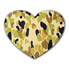 Army Camouflage Pattern Heart Mousepads