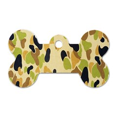 Army Camouflage Pattern Dog Tag Bone (Two Sides)
