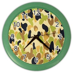Army Camouflage Pattern Color Wall Clocks