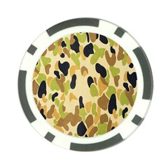 Army Camouflage Pattern Poker Chip Card Guard