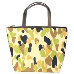 Army Camouflage Pattern Bucket Bags