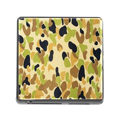 Army Camouflage Pattern Memory Card Reader (Square)