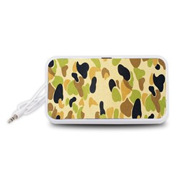 Army Camouflage Pattern Portable Speaker (White)