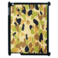 Army Camouflage Pattern Apple iPad 2 Case (Black)