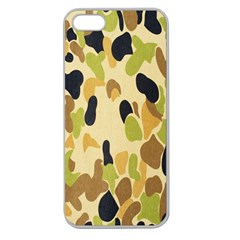 Army Camouflage Pattern Apple Seamless Iphone 5 Case (clear)
