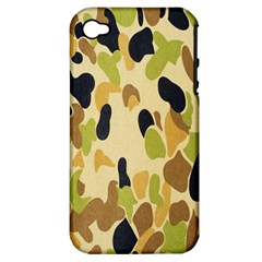Army Camouflage Pattern Apple Iphone 4/4s Hardshell Case (pc+silicone)