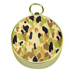 Army Camouflage Pattern Gold Compasses