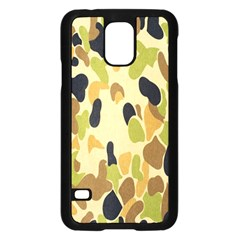 Army Camouflage Pattern Samsung Galaxy S5 Case (Black)