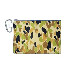 Army Camouflage Pattern Canvas Cosmetic Bag (M)