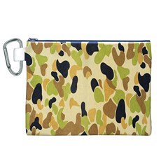 Army Camouflage Pattern Canvas Cosmetic Bag (xl)