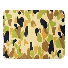 Army Camouflage Pattern Double Sided Flano Blanket (Large)