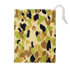 Army Camouflage Pattern Drawstring Pouches (Extra Large)