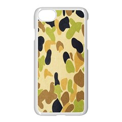 Army Camouflage Pattern Apple Iphone 7 Seamless Case (white)