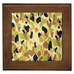 Army Camouflage Pattern Framed Tiles