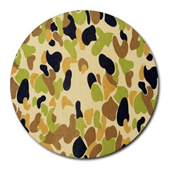 Army Camouflage Pattern Round Mousepads
