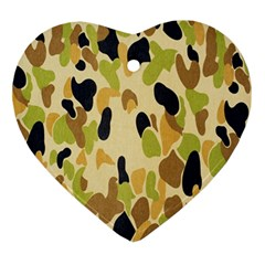 Army Camouflage Pattern Ornament (Heart)