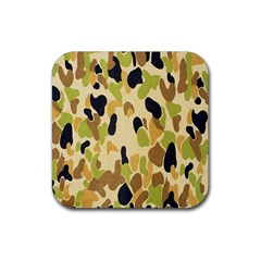 Army Camouflage Pattern Rubber Coaster (Square)