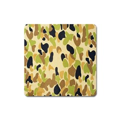 Army Camouflage Pattern Square Magnet