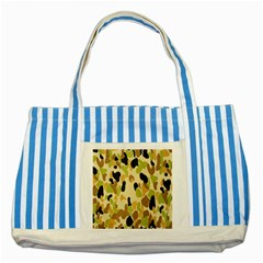 Army Camouflage Pattern Striped Blue Tote Bag