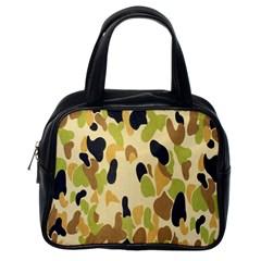 Army Camouflage Pattern Classic Handbags (One Side)