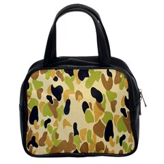 Army Camouflage Pattern Classic Handbags (2 Sides)