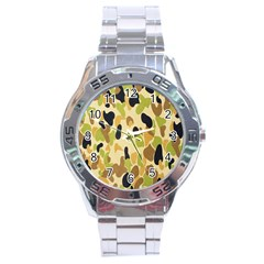 Army Camouflage Pattern Stainless Steel Analogue Watch