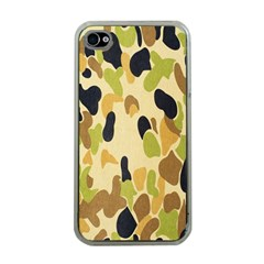 Army Camouflage Pattern Apple iPhone 4 Case (Clear)