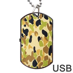 Army Camouflage Pattern Dog Tag USB Flash (Two Sides)
