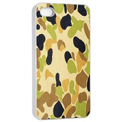 Army Camouflage Pattern Apple iPhone 4/4s Seamless Case (White)
