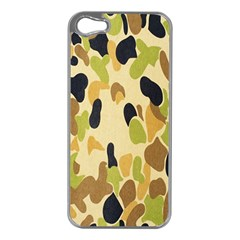 Army Camouflage Pattern Apple Iphone 5 Case (silver)