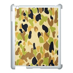 Army Camouflage Pattern Apple iPad 3/4 Case (White)