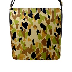 Army Camouflage Pattern Flap Messenger Bag (L)