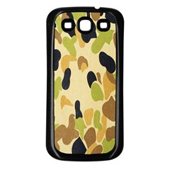Army Camouflage Pattern Samsung Galaxy S3 Back Case (black)