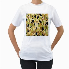 Army Camouflage Pattern Women s T-Shirt (White)
