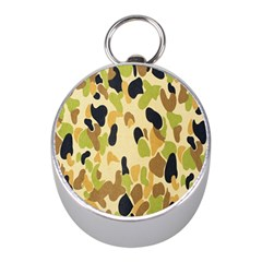 Army Camouflage Pattern Mini Silver Compasses