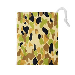Army Camouflage Pattern Drawstring Pouches (large)